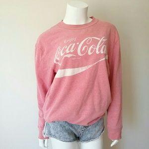 Coca Cola Classic Logo Crewneck Sweatshirt
